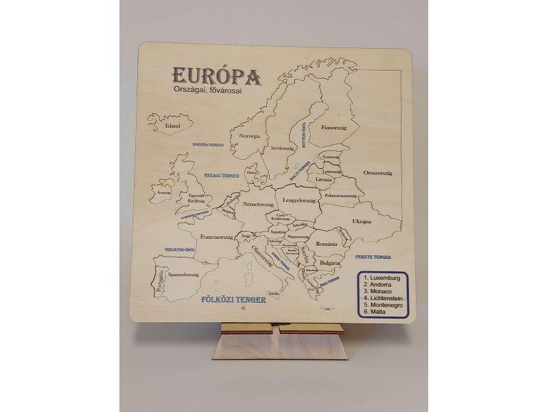 Európa kirakós térkép