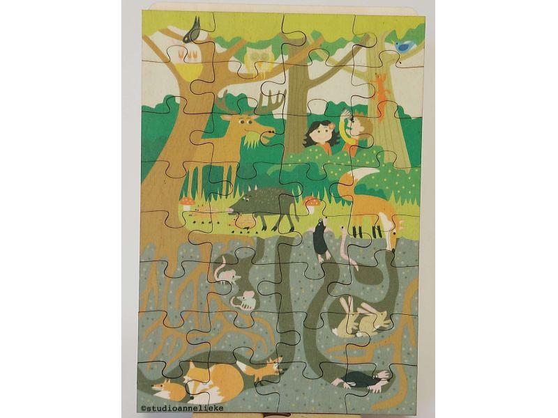 Erdő élővilága puzzle